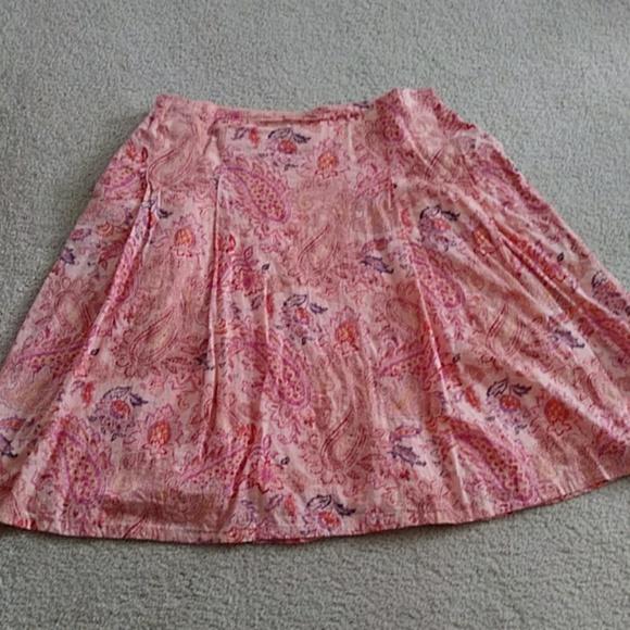 Style & Co Dresses & Skirts - Peach print cotton A-line skirt